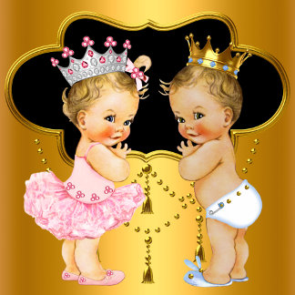 TWIN BOY and GIRL Baby Shower Invitations
