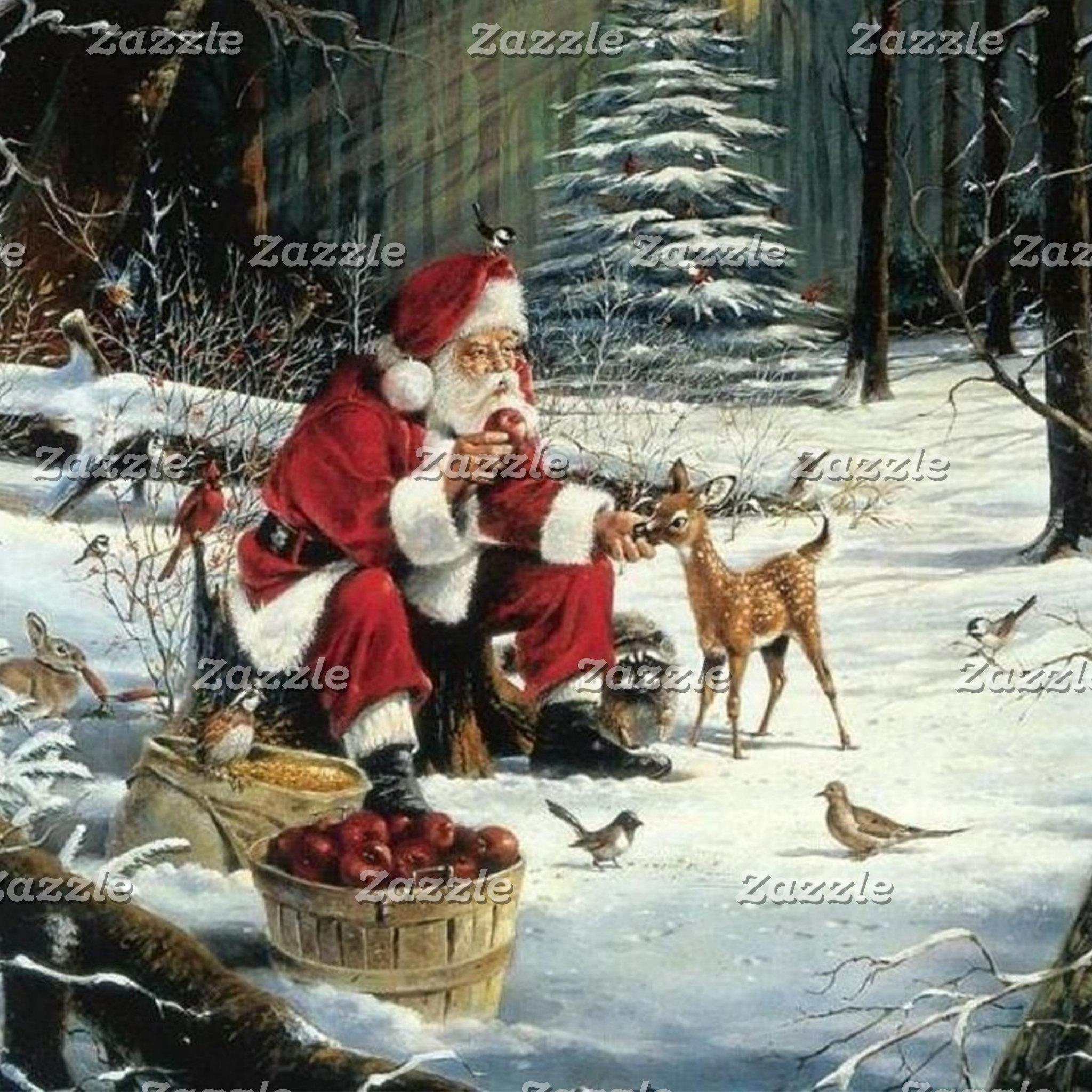 Santa claus painting - christmas art