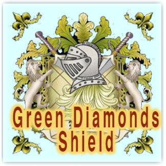 Green Diamonds Shield