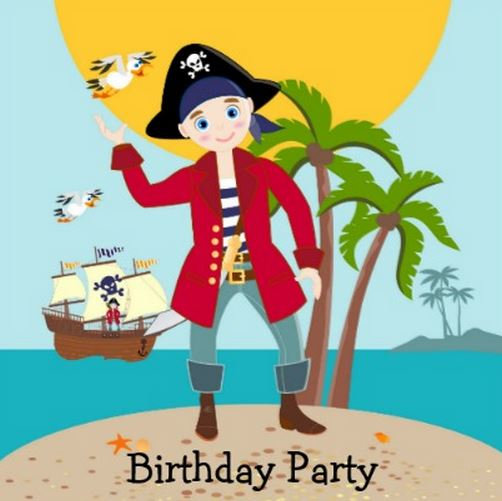 Pirate Kid Birthday Party Theme