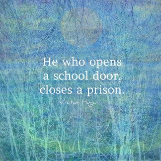 Education Teacher quote Victor Hugo