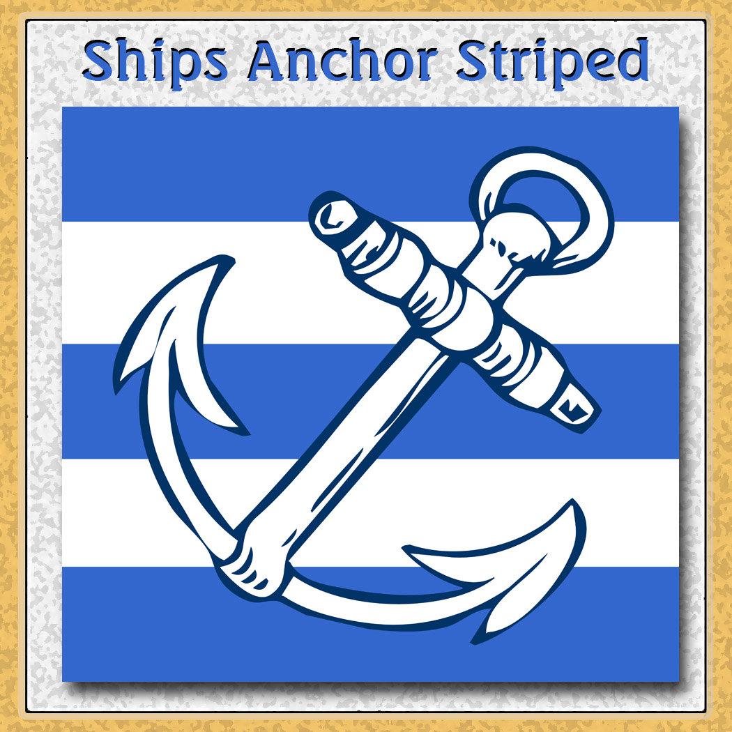 Ships Anchor Blue Stripes