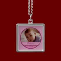 Baby Photo Necklaces