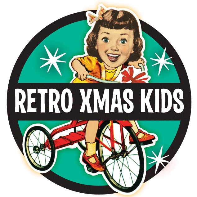 Retro Kids Christmas Cards