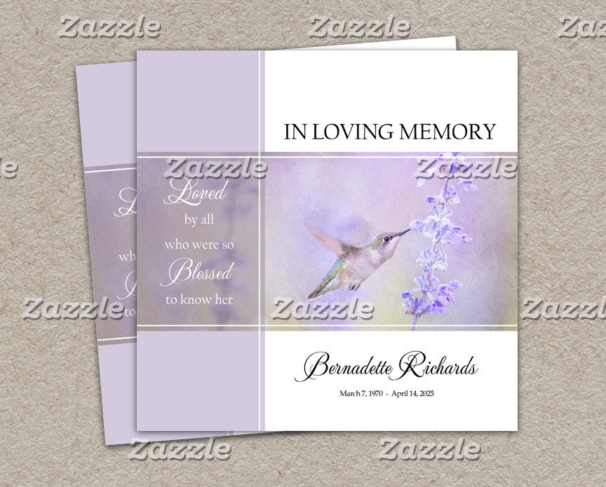 FUNERAL AND  MEMORIAL STATIONERY
