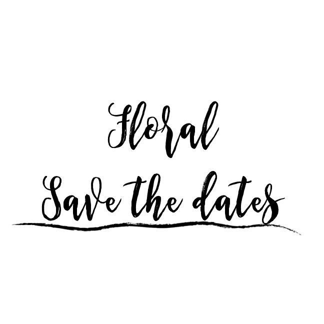 Save the Date - Floral