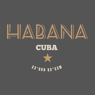 Habana Cuba Vintage Label