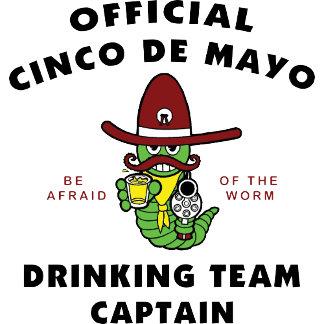 Cinco de Mayo Drinking Team Captain T-Shirt Gift