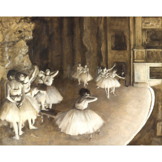 Edgar Degas | Ballet Rehearsal On Stage
