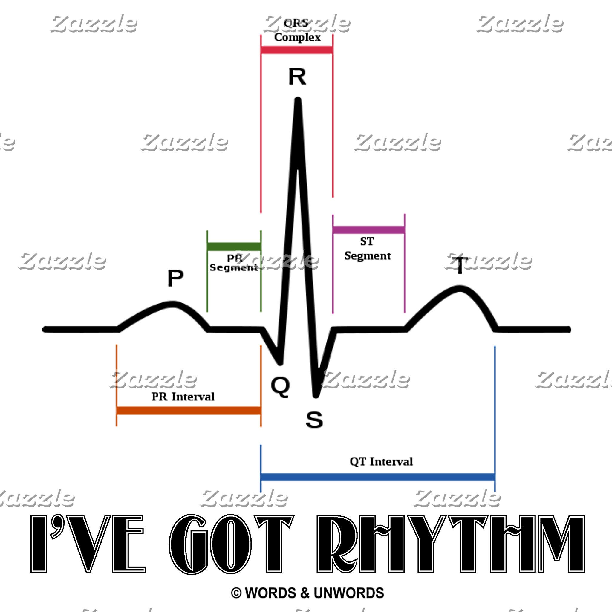 EKG/ECG Heartbeat (Electrocardiogram Sinus Rhythm)