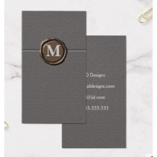 Customizable Monogram Business Cards