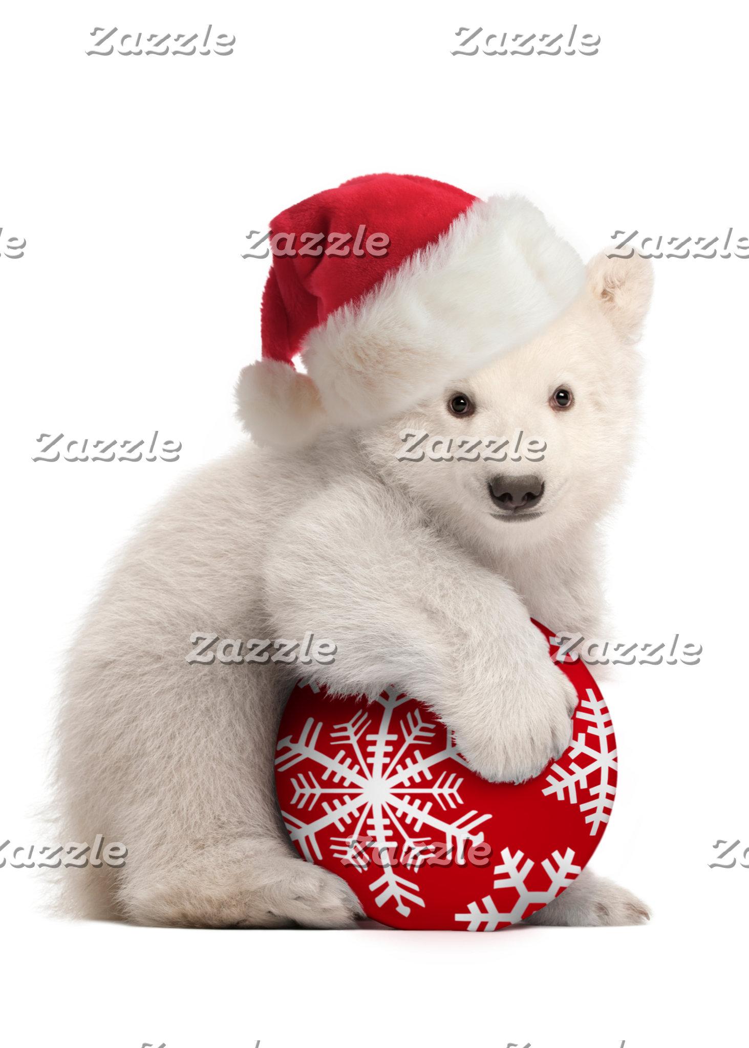Polar Bear Cub Christmas Cards and Gifts