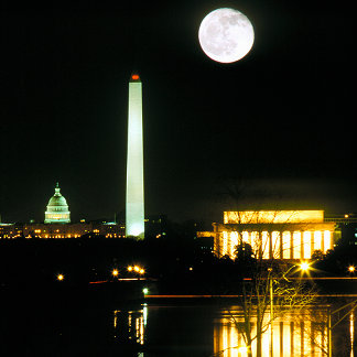Capitol Building, Lincoln Memorial, Washington