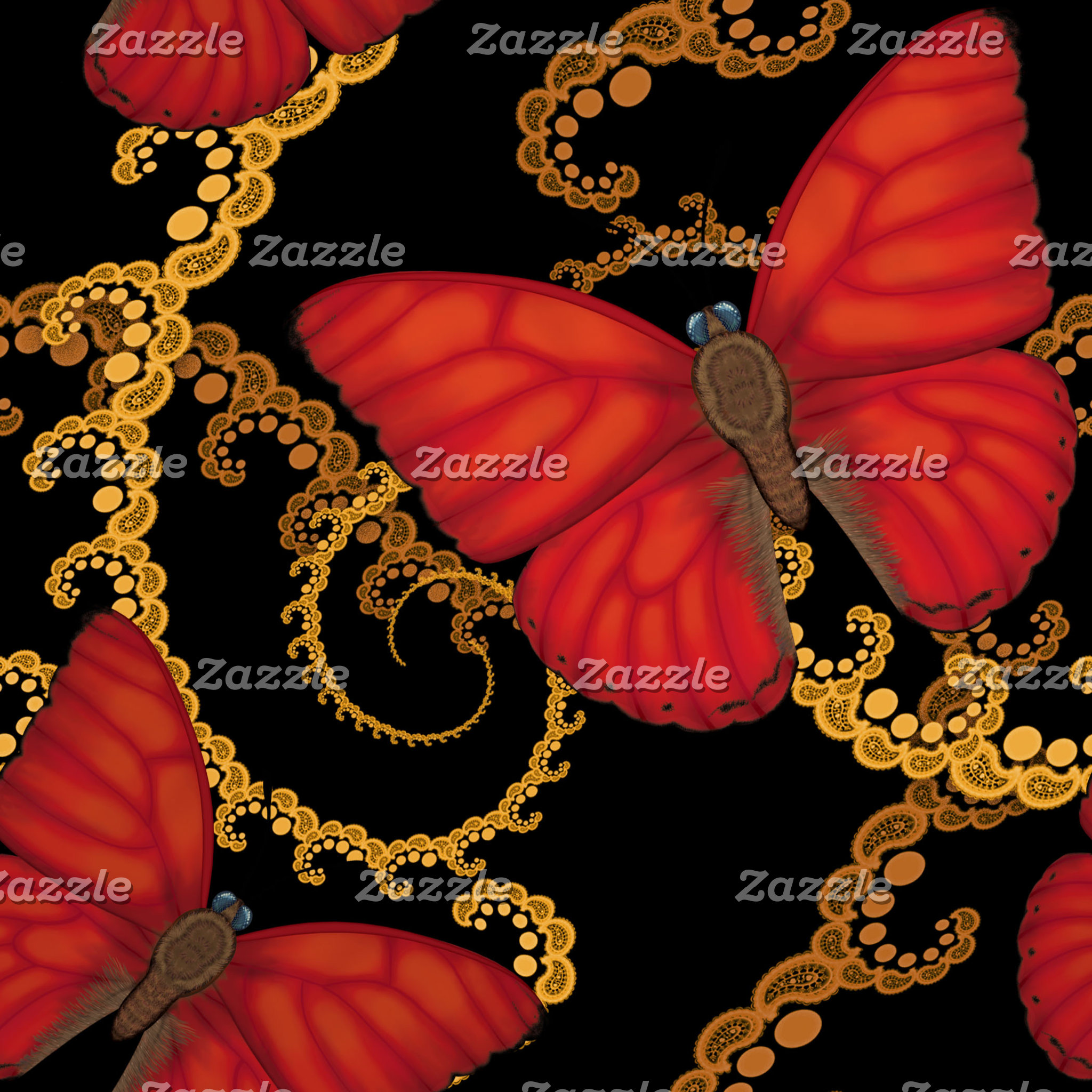 Blood Red Glider Butterfly
