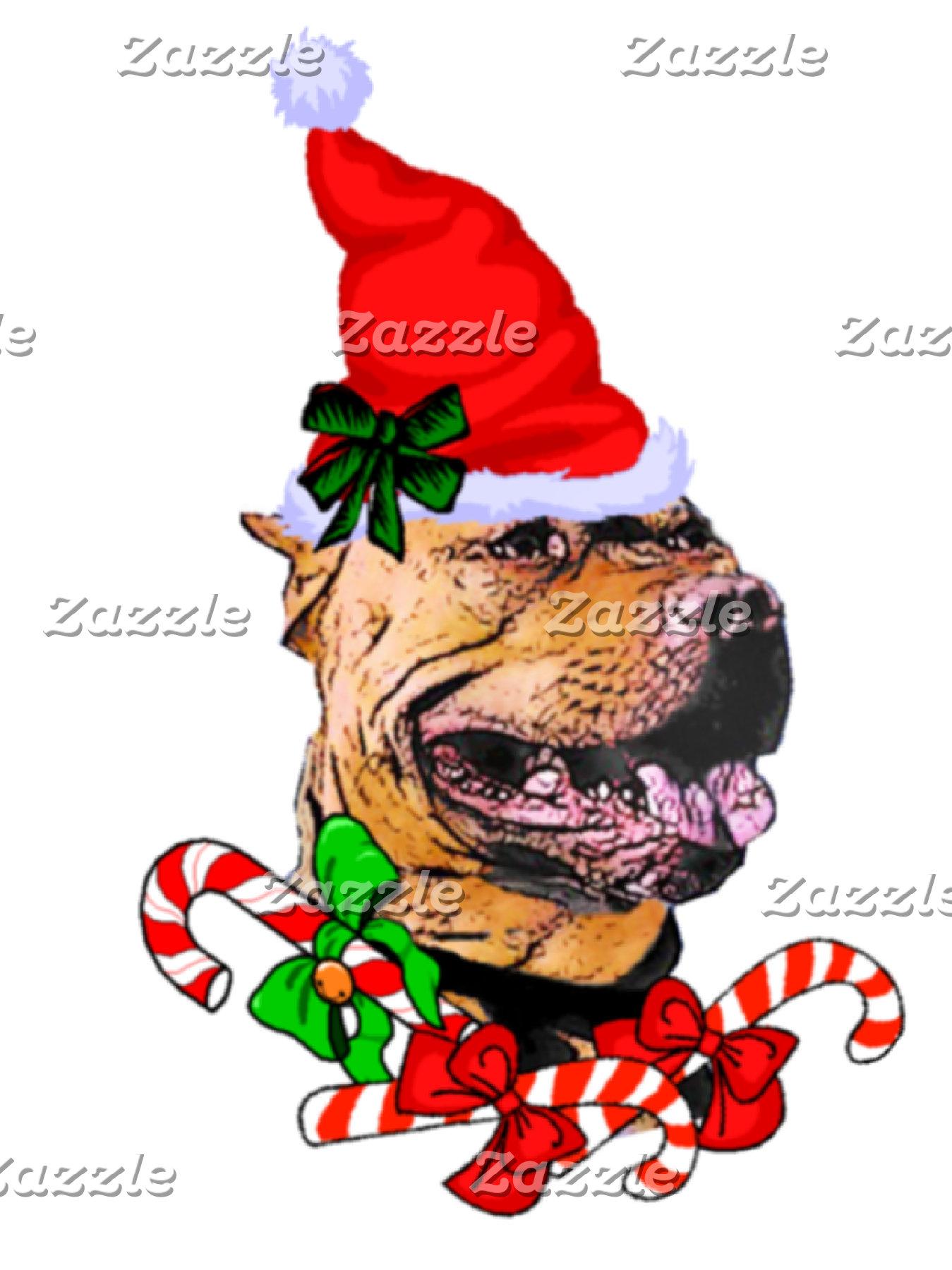 American Pit Bull Terrier Christmas