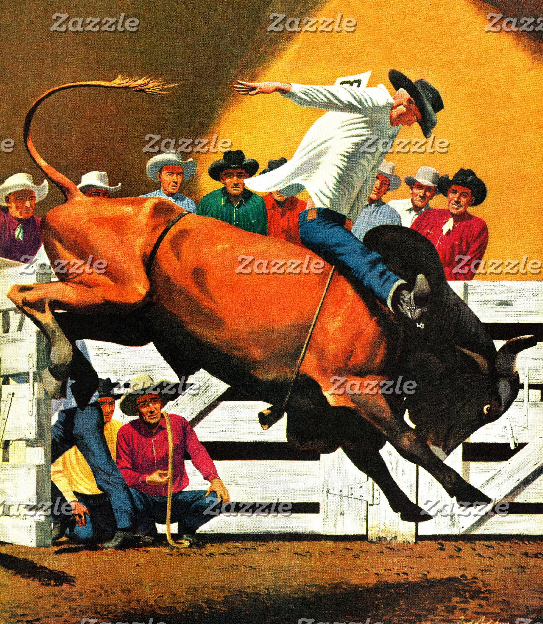 Bull Riding by Fred Ludekens