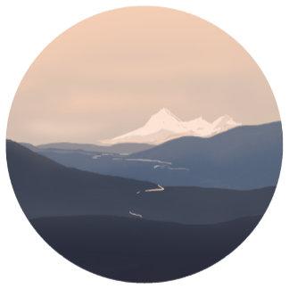 Round Illustrations: Mountains