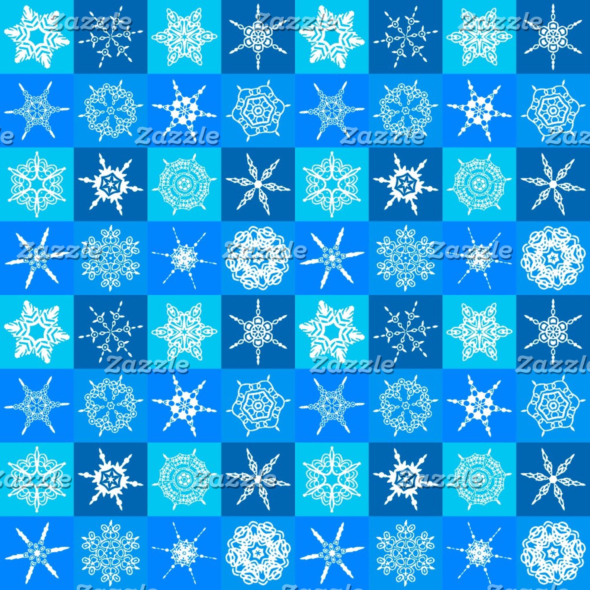 Blue Snowflakes Pattern