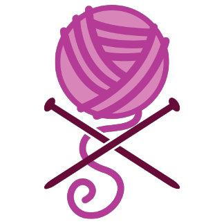 knitting pirate purple