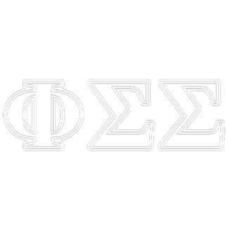 Phi Sigma Sigma White and Yellow Letters