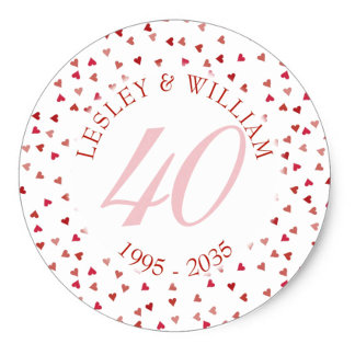 40th Ruby Wedding Anniversary