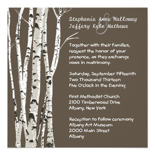 Fall Wedding Birch Trees