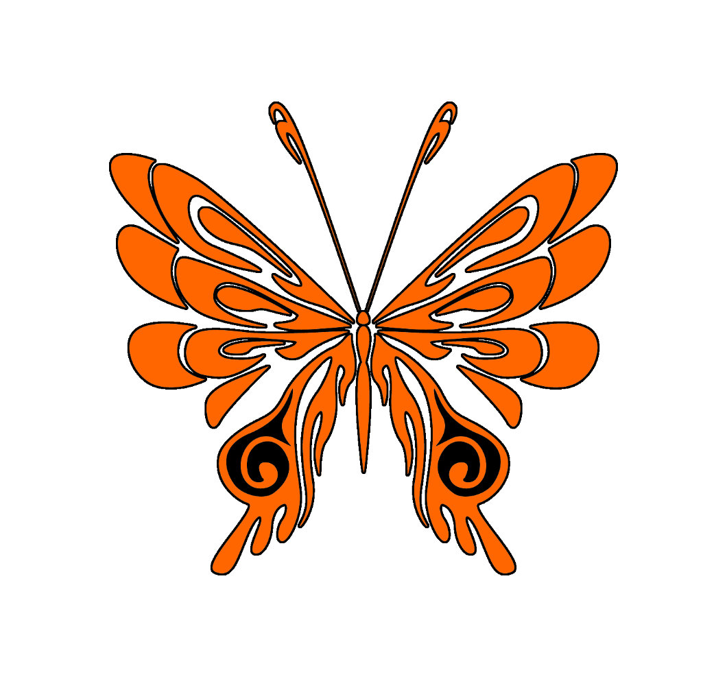 Flame Tattoo Butterfly