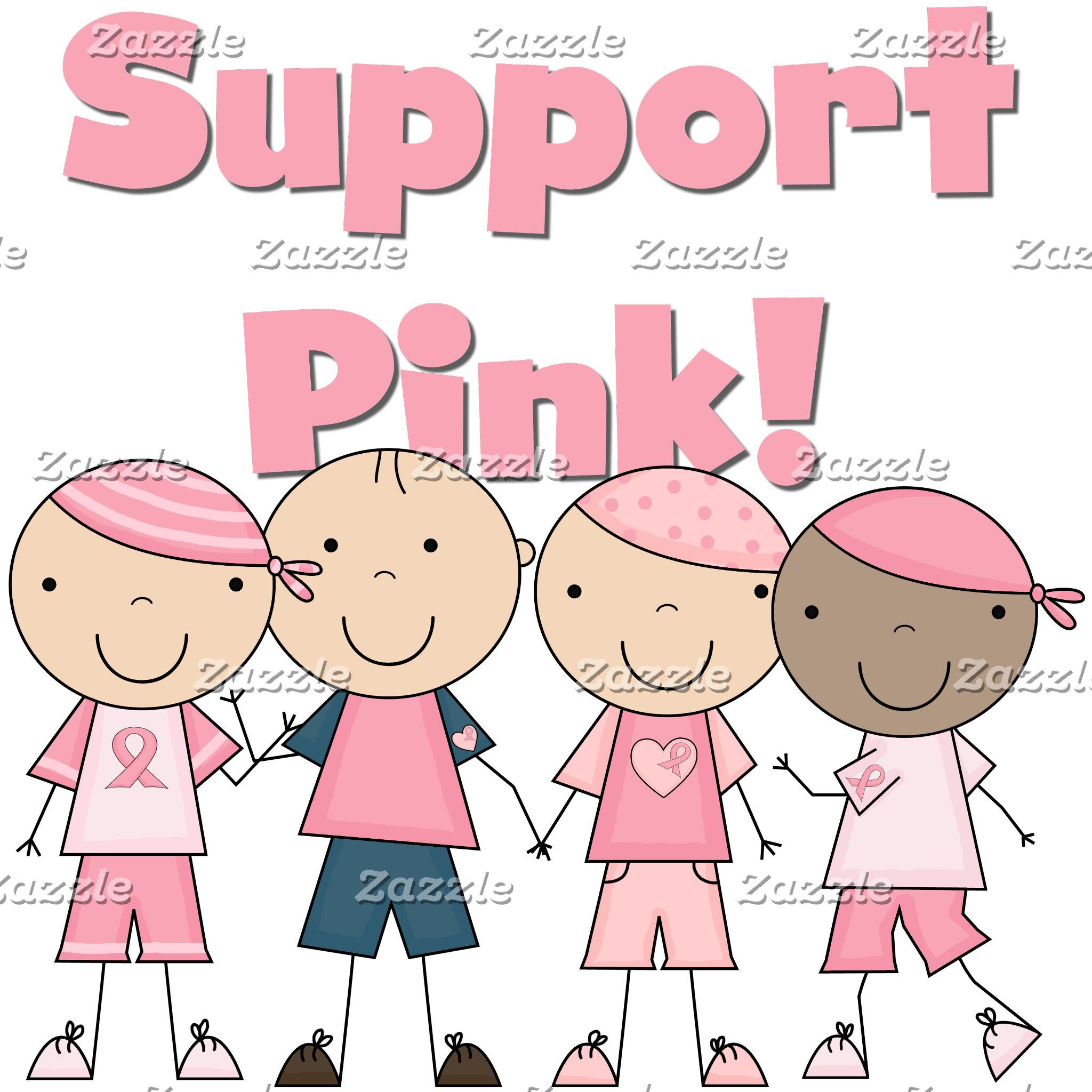 Stick Kids Support Pink