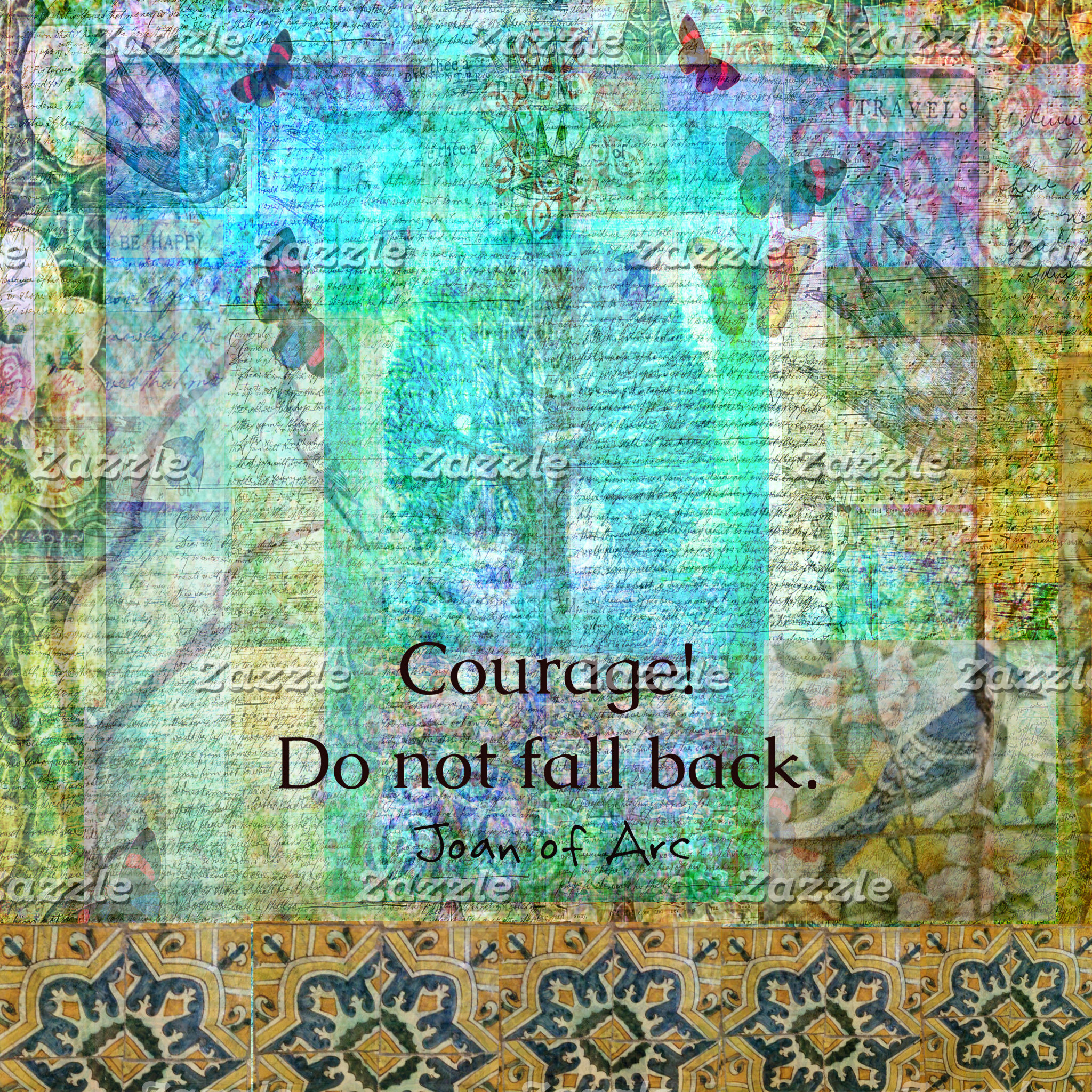 Courage! Do not fall back. Jeanne d'Arc