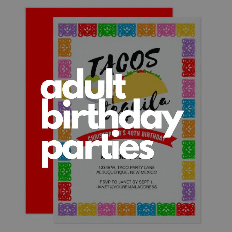 Adult Birthday Parties