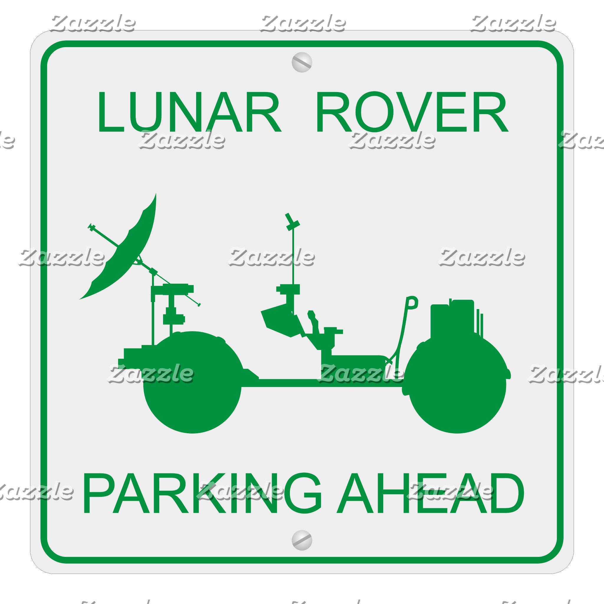 Lunar Rover Parking Ahead