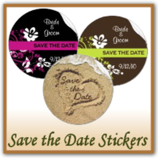 Save the Date Stickers