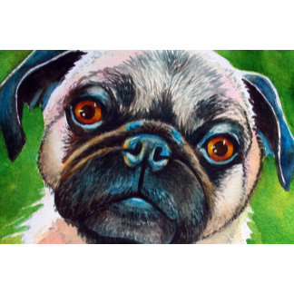 Pug Portrait Dog Painting