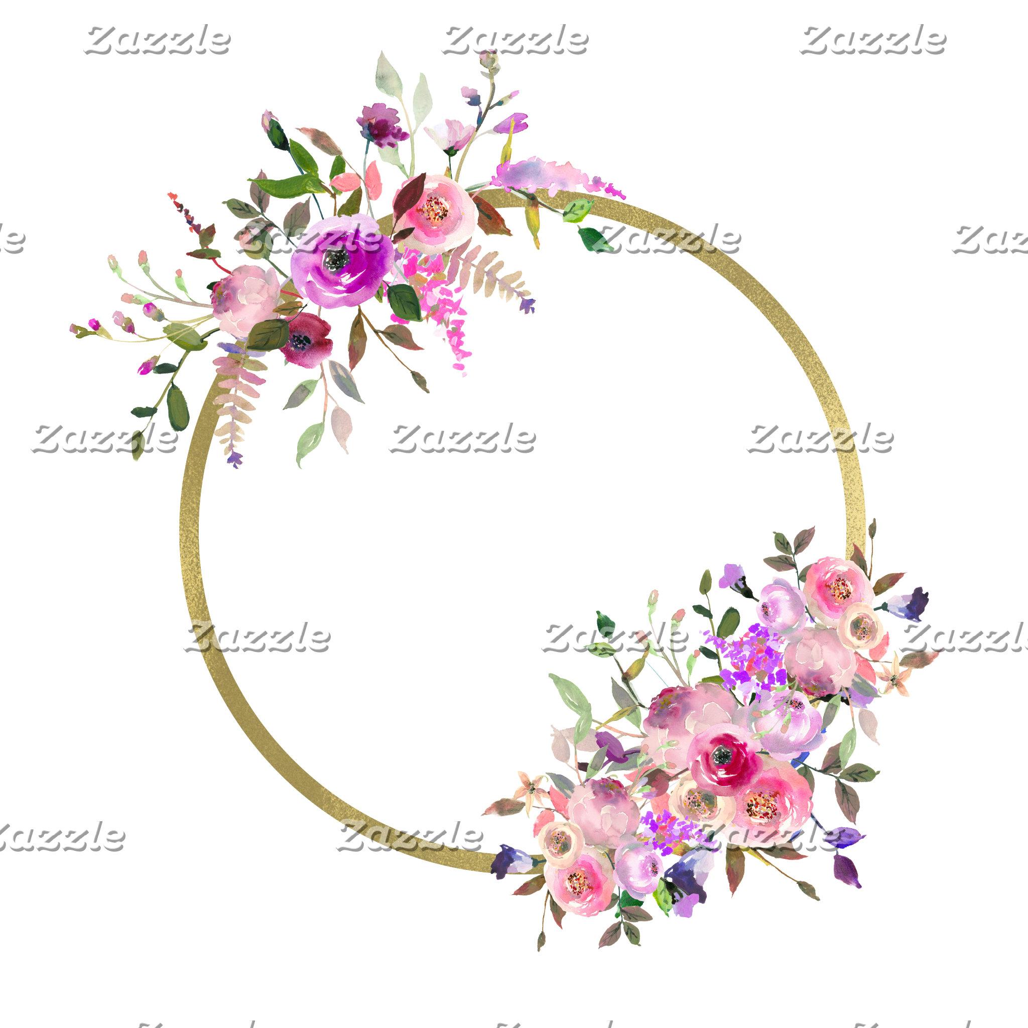 Floral Wreath Monogram Designs
