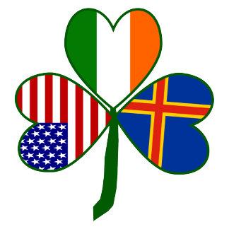 Aland Islands Shamrock Flag