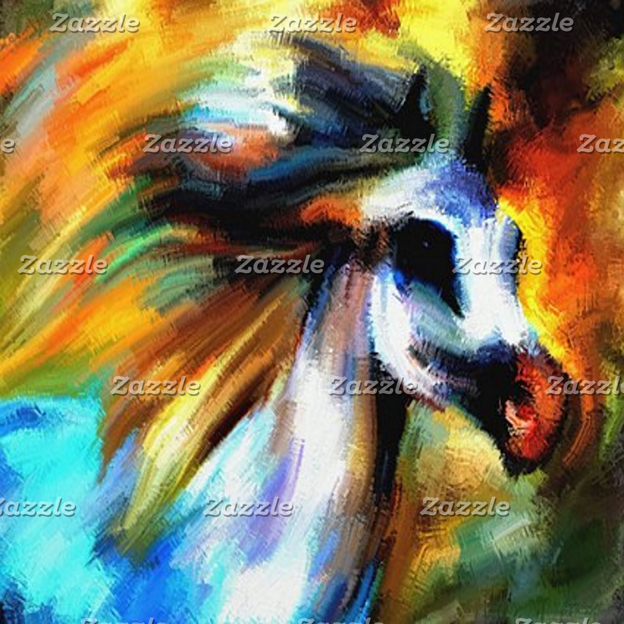 Abstract Art - Horses