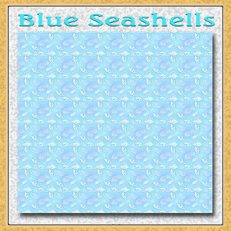 Blue Seashells Pattern