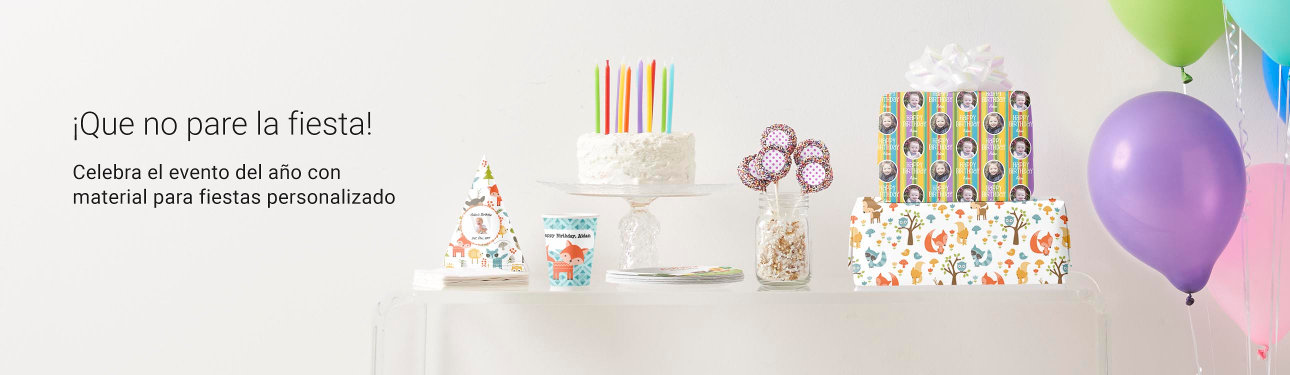 Celebra el evento del año con material para fiestas personalizado