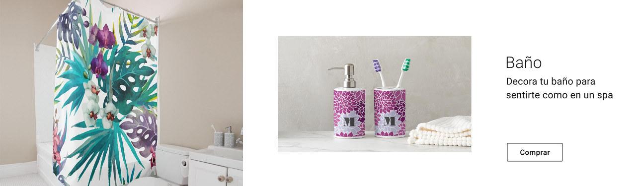 Decora tu baño con productos personalizados