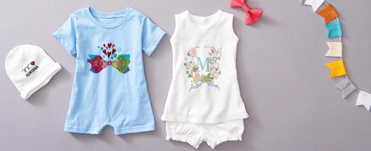 Ropita de bebé personalizada y otros regalos para bebés