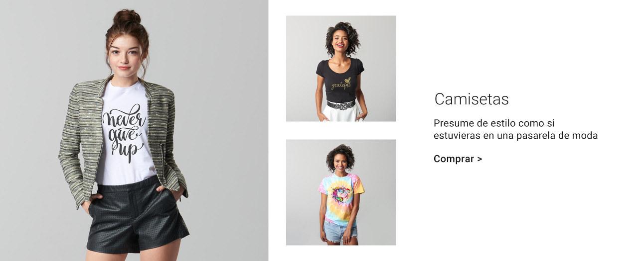 Camisetas personalizables para mujer