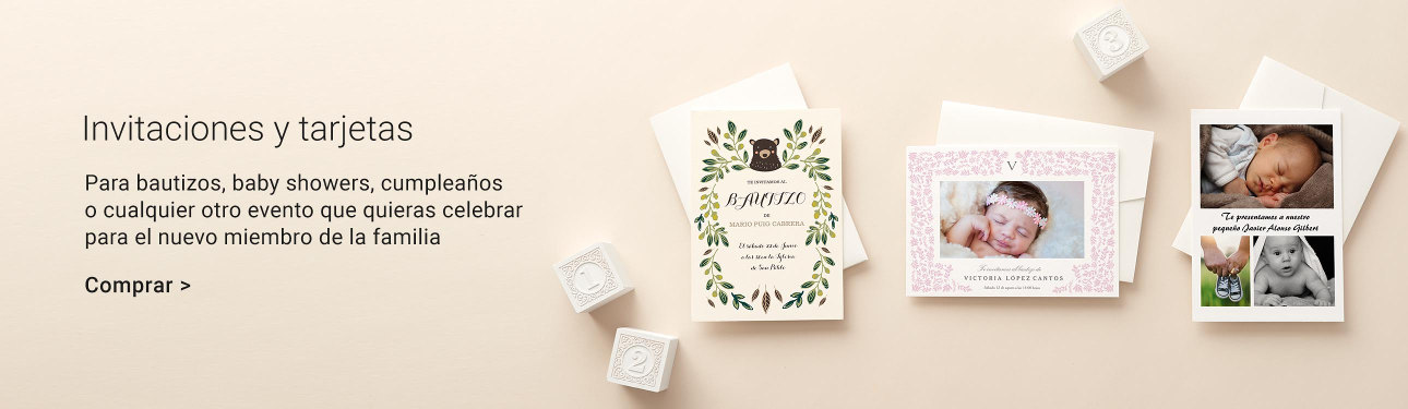 Invitaciones para bebés en Zazzle