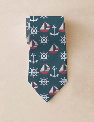 Corbatas náuticas en Zazzle
