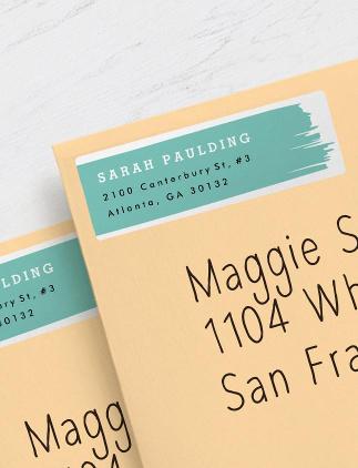 Etiquetas personalizadas de dirección, remite y envío en Zazzle
