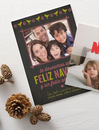 Tarjetas de navidad con fotos familiares