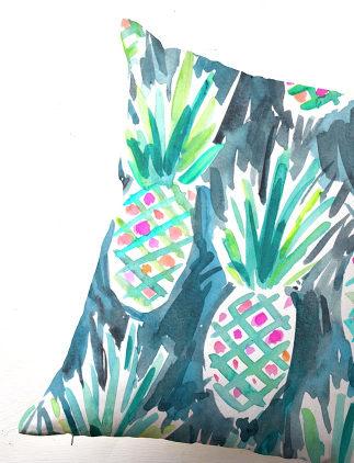 Cojines con diseños tropicales en Zazzle