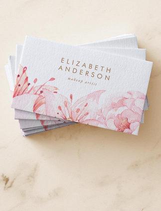 Tarjetas de visita con flores en Zazzle