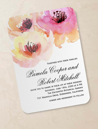 Invitaciones de boda personalizadas en Zazzle