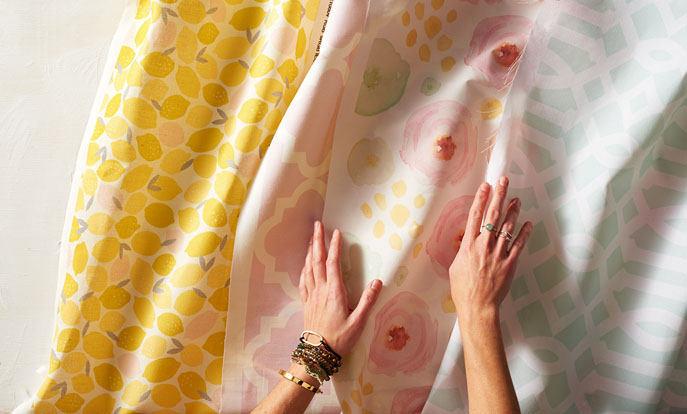 Miles de diseños de telas en Zazzle