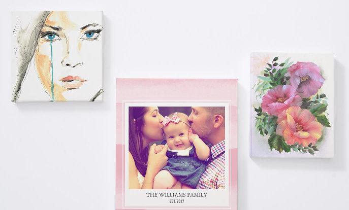 Decora tus paredes con un lienzo personalizado con tus fotos